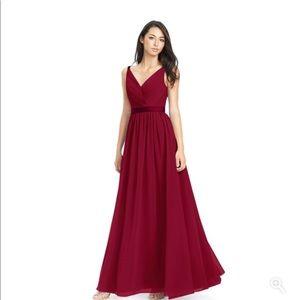 Azazie Burgundy Leanna Bridesmaids Dress